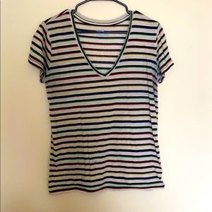 Urban Outfitters, striped V Neck Tshirt